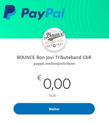 BOUNCE auf Paypal